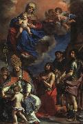 Giovanni Francesco  Guercino Virgin and Child with the Patron Saints of Modena oil painting